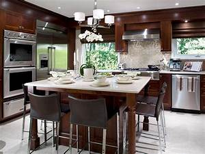 kitchen island tables hgtv With widen your kitchen with a kitchen island