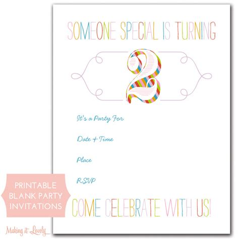 Printable Birthday Invitations So Pretty And