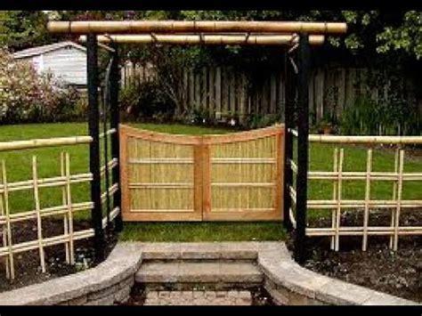 desain pagar rumah  bambu   youtube