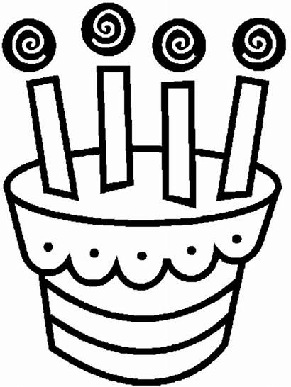 Birthday Coloring Happy Pages Cake Printable Boys
