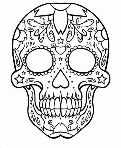 Skull Coloring Pages Sugar Tattoo Candy Adult
