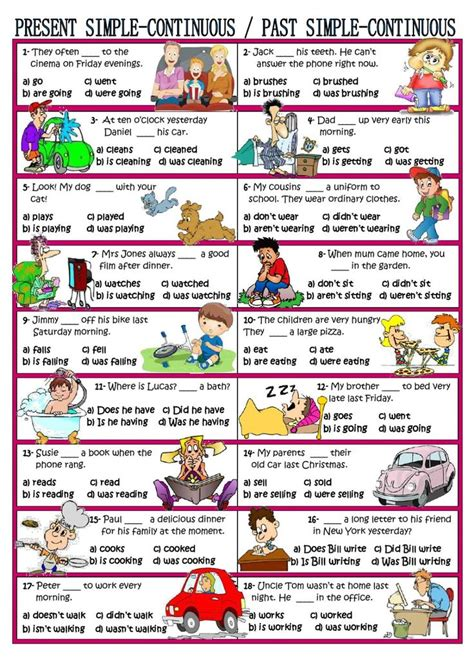 best 25 present continuous worksheet ideas on