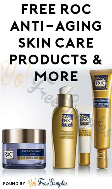 FREE RoC Anti-Aging Skin Care Products & More (Apply To
