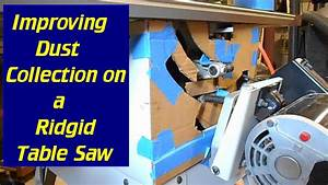 Improve Your Table Saw Dust Collection - YouTube