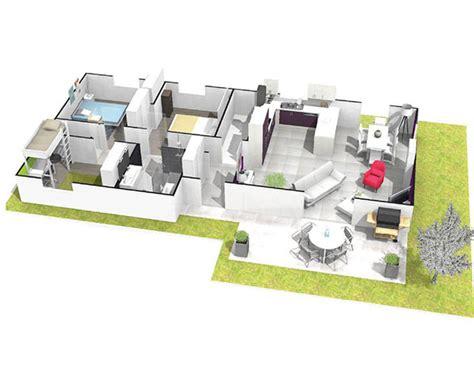 plan maison contemporaine plain pied 4 chambres maison sous sol complet saphir logivelay