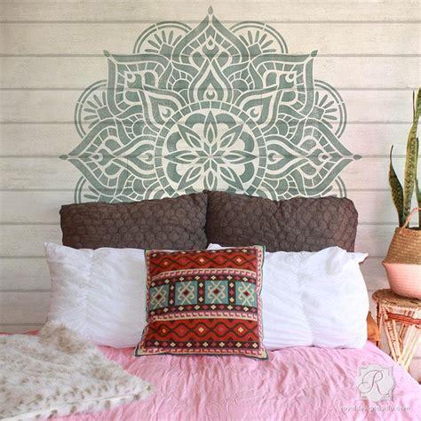 large mandala wall art stencils  painting boho bedroom