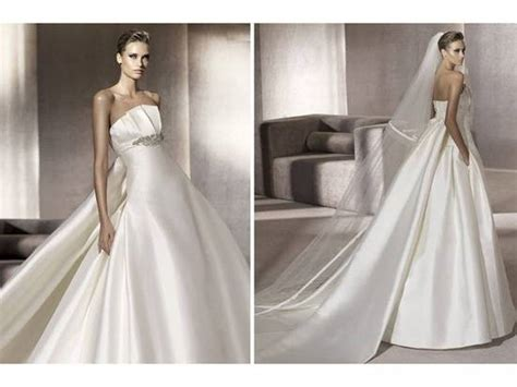 Classic Ivory Strapless Ballgown Wedding Dress With