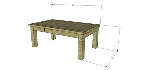 simple table design free plans for a joss inspired lodge coffee table