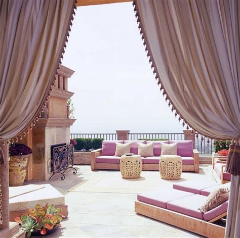 Exotic Moroccan Patios For Courtyards