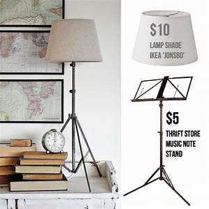 Lampe Trepied Ikea : music stand ikea hack to make tripod lamp 15 diy pinterest lampadaires lampes et tr pied ~ Teatrodelosmanantiales.com Idées de Décoration