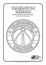 Coloring Nba Logos Teams Basketball Raiders Warriors Cool Golden State Washington Lakers Wizards Blazers Trail Portland Printable Easter Clubs Colouring sketch template
