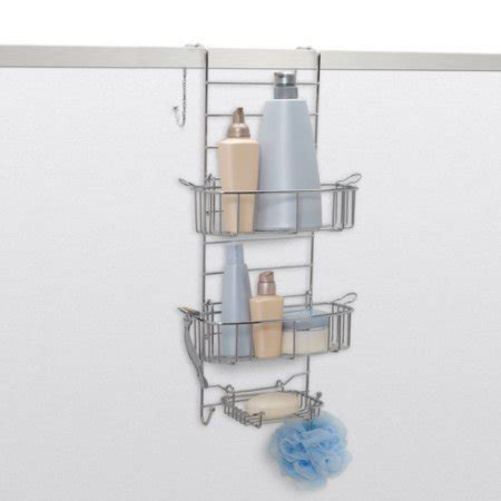 the door bathroom organizer walmart zenith products the shower door caddy stainless