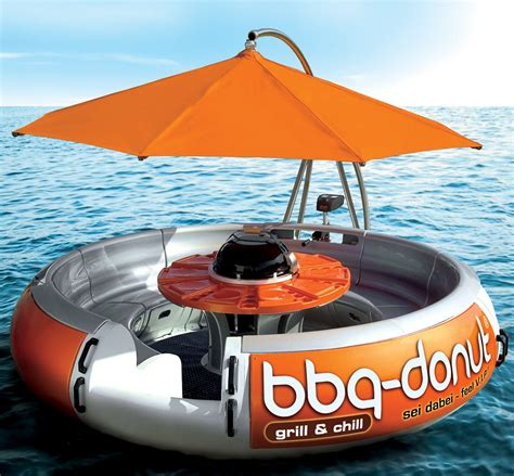 Boat And Grill by Bbq Donut Boat Floating And Grill Captivatist