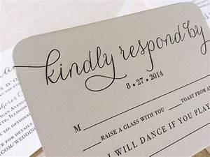 the verbena suite modern letterpress wedding invitation With wedding invitations with rsvp and song request