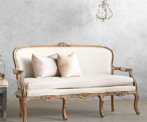 Shabby Chic Settee Furniture by Vintage Louis Xv Style Shabby Gilt Upholstered