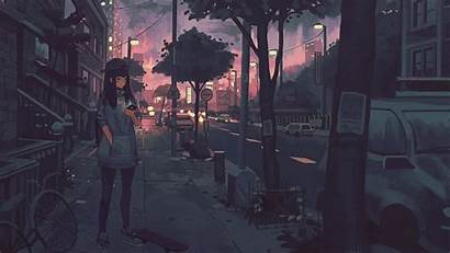 Chilledcow Klegs Night Deviantart Street Anime Lights
