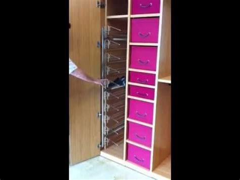 Zapatero lateral extraible para armario vestidores en