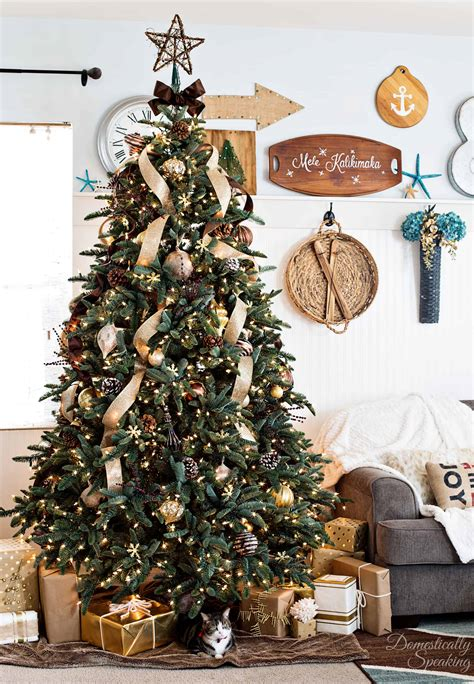 rustic christmas trees rustic luxe christmas tree 12 bloggers of christmas with balsam hill domestically speaking