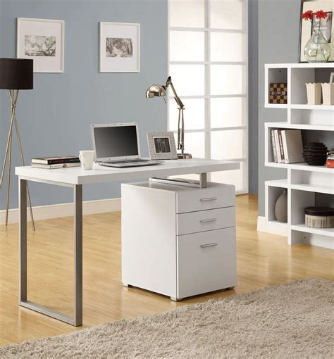 modern white desk with drawers modern white office desk laptop workstation with drawer