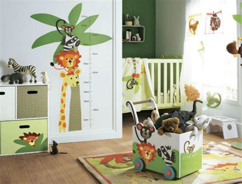 chambre theme jungle idee chambre