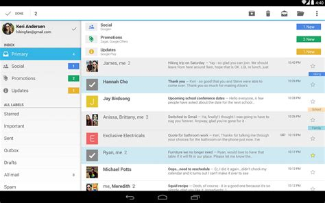 gmail app for android gmail for android 4 9 now with drive file