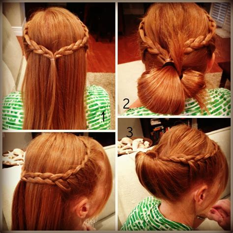 easy quick hairstyles  long hair  school hairstyle