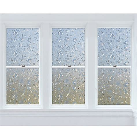 cut floral premium static cling window film  clear bed