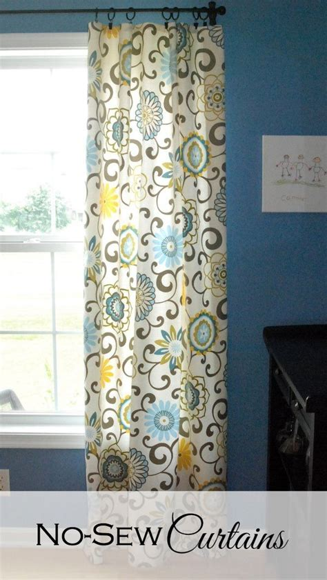 How To Make Drapes Without Sewing - 17 best ideas about no sew curtains on outdoor
