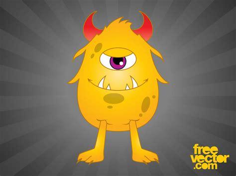Happy Cartoon Monster Vector Art & Graphics