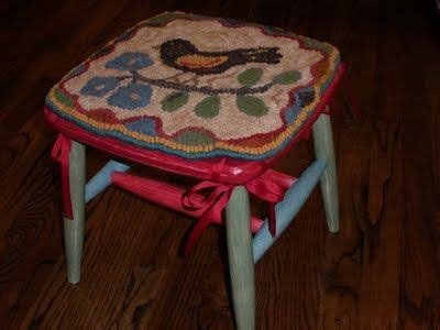 Hooked Chair Pads Kits by 41 Best Images About Rug Hooking Stools On Pinterest