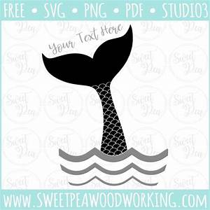 """Mermaid Tail"" SVG Design Files – Sweet Pea Woodworking"