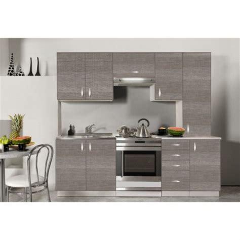 cuisine complet cuisine complète en bois gris 220 cm oxane