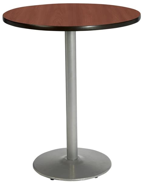 36'' Round Laminate Bistro Height Pedestal Table With