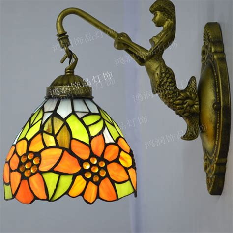Stained Glass Bathroom Light Fixtures by Wall L Sunflower Countryside Stained Glass