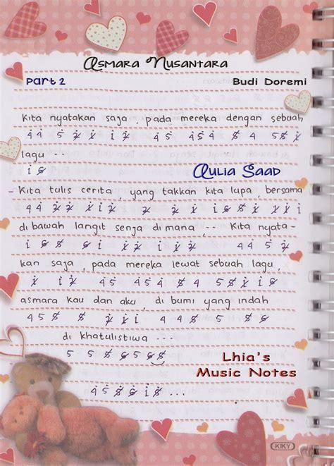 not angka lagu budi doremi not angka budi doremi asmara nusantara