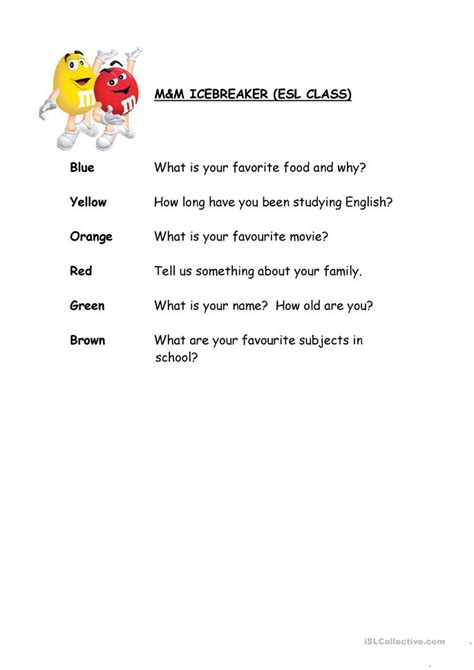 mm icebreaker worksheet  esl printable worksheets
