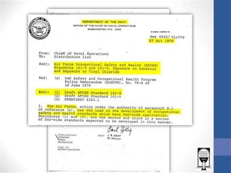 asbestos   united states military