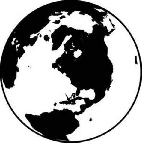 World Globe Clip Art Black and White