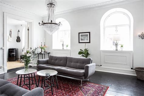 Scandinavian Home Style : Scandinavian Home Design Combining White, Black And
