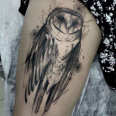owl thigh tattoos  tattoo ideas gallery