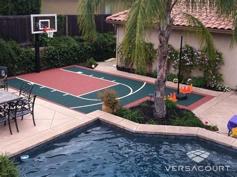 mini basketball court integrated  patio basketball