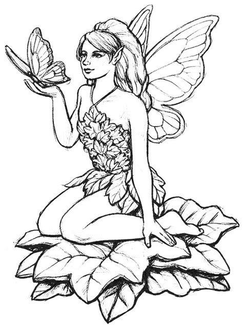 Fairy Coloring Pages for Adults Fairy coloring Fairy