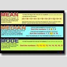 Mean Median Mode November 2013