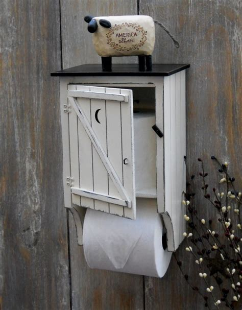 primitive outhouse bathroom decor outhouse toilet paper holder primitives