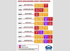 Public & School Holidays Singapore 2018 & 2019 18 Long