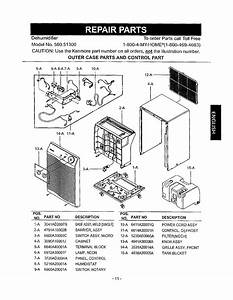 Page 11 Of Kenmore Dehumidifier 580 513 User Guide