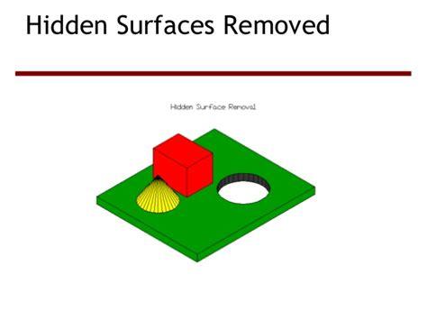 surface elimination using z buffer algorithm
