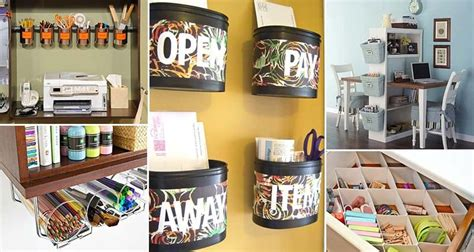 awesome diy ways  organize  office part