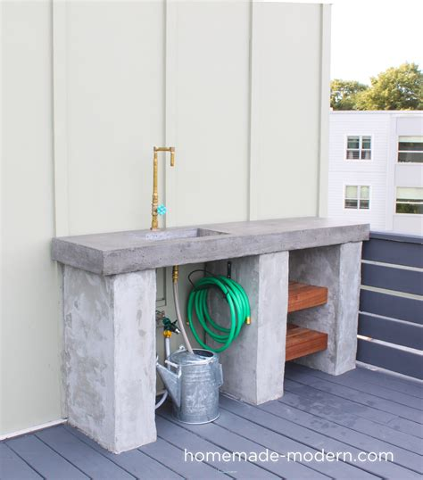 Homemade Modern Ep96 Diy Outdoor Kitchen With Concrete