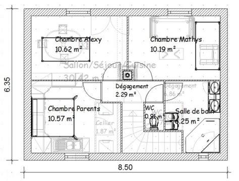 plan maison r 1 plan de maison 56m2